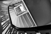 Treppe in der Jugenstilanlage Sprudelhof