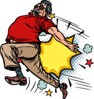 pensioner kick, ageism age discrimination. the dismissal of an old man