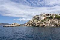 Coastal landscape sea view with islands Santa Ponsa Mallorca