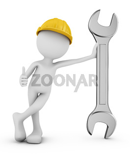 Man with wrench