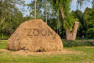 Spreewald Biosphärenreservat Urlaubsregion traditioneller Heuschober