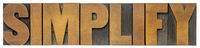 simplify word abstract in wood type