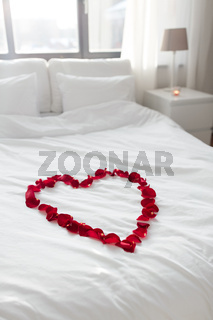 cozy bedroom decorated for valentines day