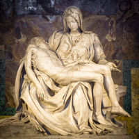The pity: Michelangelo masterpiece in Saint Peter Basilica - Vatican