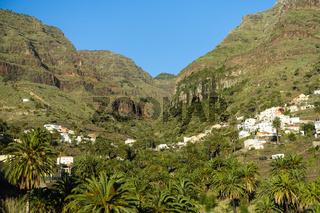 Blick Richtung La Vizcaina bei Valle Gran Rey, La Gomera, Spanien