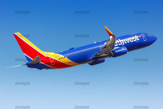 Southwest Airlines Boeing 737-800 airplane