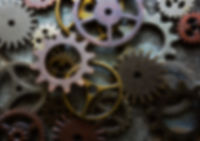 Blurred gears and components background