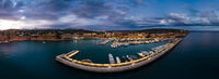Aerial view, luxury marina Port Adriano, El Toro, Spain, Balearic Islands, Mallorca