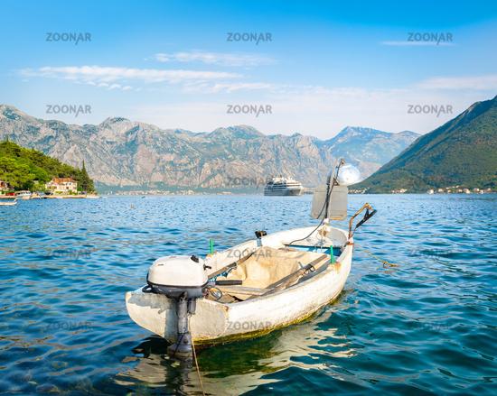 Boat in the bay of Kotor
