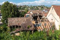 Zerfallenes Haus in der Altstadt von Schaffhausen