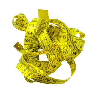 Tangled Yellow Tape Measure