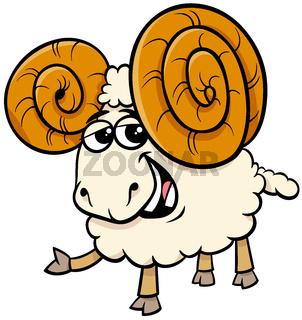 funny ram animal cartoon character