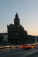 Traffic at the Elisbaeth Bridge, Budapest, Hungary