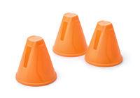 Plastic orange slalom skating cones