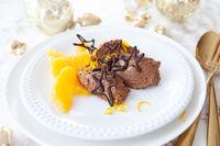 Mousse au Chocolat mit Orange
