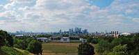 Panoramaaussicht vom Greenwich Observatory auf London