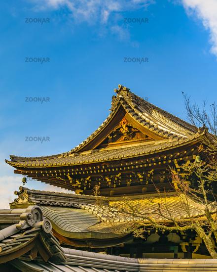 Temple Facade, Kyoto, Japan