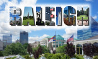 Downtown Raleigh NC collage