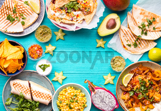 Mexican food background
