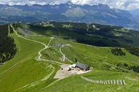 Wanderwege am Mont Joly im Wandergebiet Saint-Gervais-les-Bains, Savoyen, Frankreich