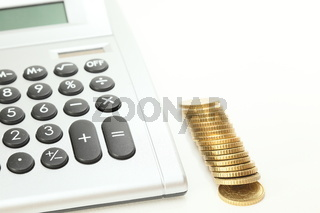 Finanzsymbol mit Rechner