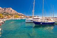 Idyllic sailing coast of Baska Voda view