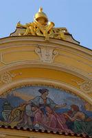 Detail eines Dachs am Altstädter Rathausmarkt in Prag