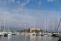 Harbor Antibes with fort carre