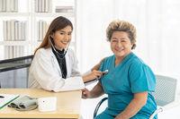 Doctor checkup elderly patient