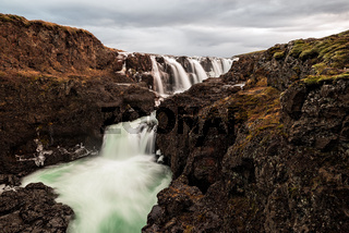 Kolugljufur waterfall in Iceland