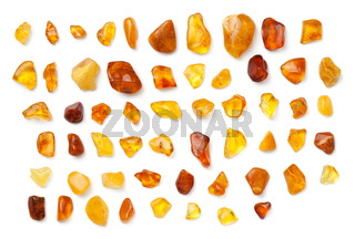Amber Isolated On White Background