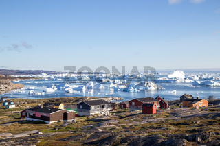 Colorful houses in Rodebay, Greenland