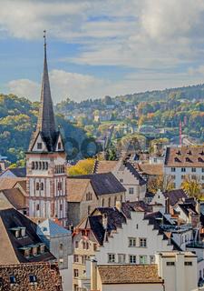 Schaffhausen, Altstadt mit Münster Allerheiligen, Schweiz