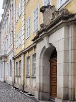 Historische Gebäude in der Altstadt von Görlitz, Sachsen, Deutschland