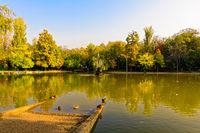 Cismigiu Park in Bucharest