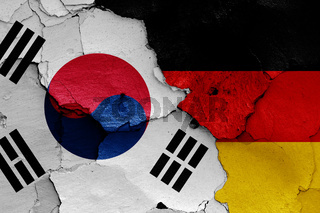 flags of South Korea and Germany