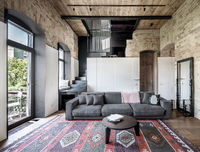 Hall in loft style