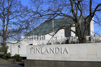 Finlandia Hall in Helsinki Finland