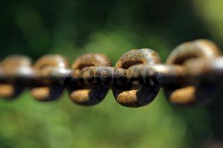 rostige Eisenkette
