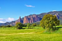 Mallos de Riglos in Aragon, Spanien - Mallos de Riglos in Aragon, Spain