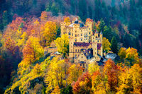 Hohenschwangau Castle, Bavaria, Germany.