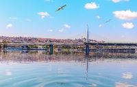 Halic Metro Bridge, beautiful sea view, Istanbul
