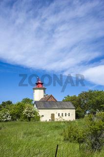 Leuchtturm in Westermarkelsdorf auf der Insel Fehmarn