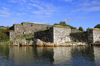 Fortifications by the shoreline in Sea Fortress of Suomenlinna