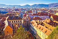 Graz historic city center rooftops view