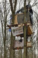 Einsatz für den Erhalt des Waldes...  Baumhaus im Hambacher Forst *Nordrhein-Westfalen*