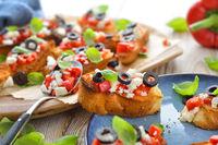 Griechisches Fingerfood mit Feta