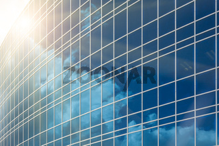 Dramatic Reflective Corporate Building Background