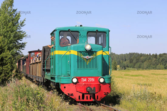 Vintage Diesel Locomotive on the Move