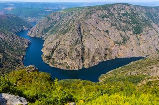 Sil Canyon Cañon del Sil, Ribeira Sacra.  Spain.
